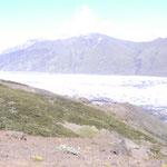 Ausblick auf den Gletscher