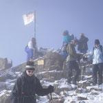 Aufbruch vom Gipfel