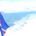 mit Volldampf aufs offene Meer