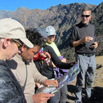 Tinley erklärt die Bergwelt