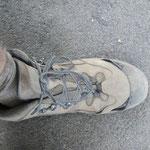 der Schuh hat sehr gute Dienste geleistet und wird nun entsorgt