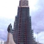 die Orgelpfeiffenkirche - leider im Baugerüst