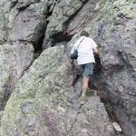 Ingo klettert