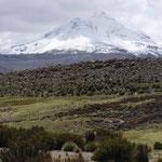 Vulkan Guallatiri (6063m) mit Rauchfahne