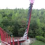 über die Drachenbrücke gehts auf die Halde