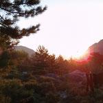 Sonnenaufgang in Haut-Asco