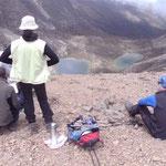 Pause auf dem Hausbergpass (4600m)