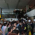 am Flughafen Santiago