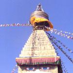 Buddhas Augen sehen alles