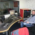 der Aufnahmeplatz fürs Interview mit Fabian Hollender