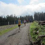 die 67km-Läufer kommen entgegen