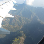der Himalya aus der Luft