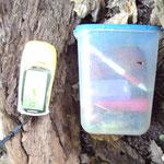 Na endlich! Links mein neues GPS-Gerät. Gute Arbeit!