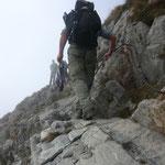 an Ketten zum Gipfel