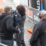 das ZDF ist auch vor Ort