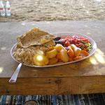 mein Mittagsessen bei den Beduinen