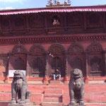 am Durban Square in Kathmandu