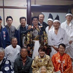 NHK大分 斉藤アナ神楽体験 H26/4/20撮影
