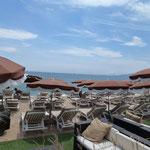 Letzter Tag an einem Strandrestaurant