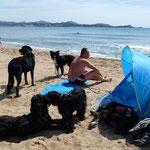 Am Strand neben Fréjus ...es war ruhig...