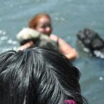 Ja auch Mutti war im Wasser ;-) musste ja T Jossy zeigen wie schwimmen so geht