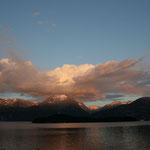 Abends schart der Schicksalsberg nochmal alle Wolken um sich...