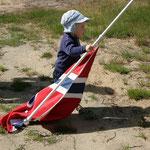 Campingplatz Reiarsfossen: Mein Sohn fühlt sich als Norweger :-)
