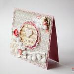 Открытка подарочная. Можно использовать как свадебную открытку. 14х14 см. 250 руб. Продано.