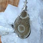 Fairy Stone - Feenstein auf Silber, 66 x 27 x 6mm, 13gr.     €40