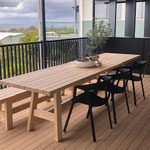 Beech timber table and chairs