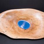 6.005 Holzschale aus Buche mit Blau