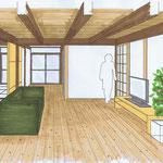 田の字の家・イメージパース