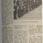 Artykuł o otrzymaniu sztandaru dla naszej OSP, 1971