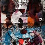Mickey, 83 cm x 117 cm, Acryl und Aerosol auf Plakat; Foto: Gunter Hahn