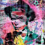 David, 83 cm x 117 cm, Acryl und Aerosol auf Plakat