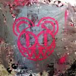 """""""Radiohead"""", ca. 150cm x 150cm, Acryl + Lack + Aerosol auf Leinwand"""