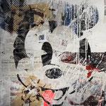 Mickey, 83 cm x 117 cm, Acryl und Aerosol auf Plakat