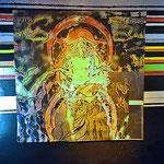"""""""Hawkwind"""" ( Space-Ritual), ca. 150cm x 150cm, Edding, Aerosol auf Alumium, 2015 (Detail)"""