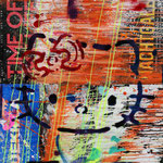 Kitty, 83 cm x 117 cm, Acryl und Aerosol auf Plakat