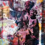 Madonna auf San Servolo, 83 cm x 117 cm, Acryl und Aerosol auf Plakat; Foto: Gunter Hahn