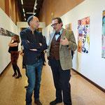 Kurator Markus Sattler (rechts) im Gespräch mit Professor Stephan Hessenich