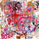 """""""Tom RobinsonBand"""", 155cm x155cm, Acryl, Arerosol auf Leinwand , 2015"""