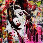 Amy, 83 cm x 117 cm, Acryl und Aerosol auf Plakat