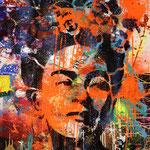 Frida, 83 cm x 117 cm, Acryl und Aerosol auf Plakat; Foto: Gunter Hahn