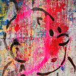 Tim, 83 cm x 117 cm, Acryl und Aerosol auf Plakat