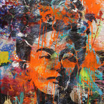 Frida, 83 cm x 117 cm, Acryl und Aerosol auf Plakat