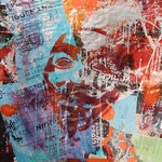 Anonymus, 83 cm x 117 cm, Acryl und Aerosol auf Plakat