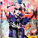 Debbie, 83 cm x 117 cm, Acryl und Aerosol auf Plakat