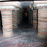 Fußbodenheizung unter dem Gladiatorenmosaik
