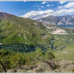 Lago di Loppio visto dal Dos Alt